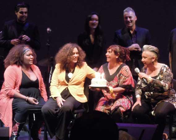 Front: Emma Donovan, Deline Briscoe, Shellie Morris, Lou Bennet.  Back: Dan Sultan, Dana Leong, Steven Richardson