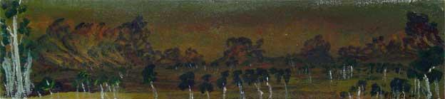 Billy Benn, Blackfella Pool, 2001 18.5 x 89.5 cm