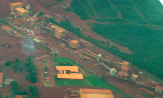 Bauxite processing operations near Yirrkala
