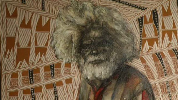 Portrait of John Bulunbulun (detail), 2007 by John Bulnbulun and Zhou Xiaoping