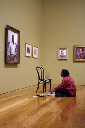 Vincent Admiring Dargie's portrait
